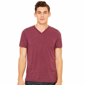 Bella + Canvas Unisex Triblend Short-Sleeve V-Neck T-Shirt
