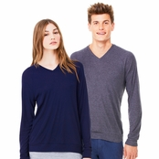Bella + Canvas Unisex V-Neck Lightweight Sweater