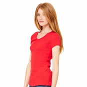 Bella Ladie's Baby Rib V-Neck T-Shirt