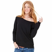 Bella Ladie's Triblend Sponge Fleece Wide Neck Sweatshirt