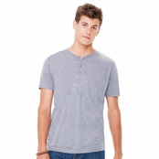 Canvas Men's Triblend Short-Sleeve Henley