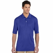 Jerzees Men's Polyester Micro Pointelle Mesh Polo Shirt