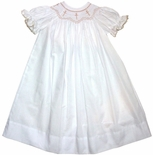 Amanda Remembered Smocked Crosses Gown, Bubble Or Dress.