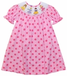 Anavini Smocked Disney Princesses Dress; Cinderella Snow White