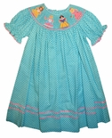 Anavini Smocked Disney Princesses Dress