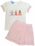 Anavini's Smocked Disney Princesses Outfit with Cinderella & Snow White.
