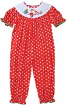 Anavini Smocked Elf on the Shelf Girls Long Bubble