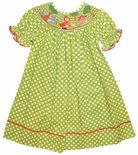 Anavini Smocked Little Red Riding Hood Dress