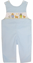 Anavini Smocked Manger Christmas Longall for Boys