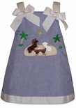 Custom Made Girl's Christmas Manger Dress.