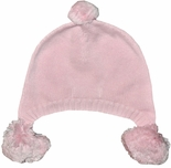 Baby Girl's Pink Pom Pom Knit Hat by Petit Ami