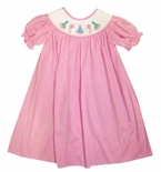 Banana Split Smocked Birthday Dress in Pink