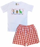 Banana Split Smocked Boy's Toy Story Shirt and Shorts Outfit