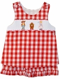Banana Split Smocked Girl's Toy Story Shorts Set