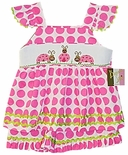 Banana Split Smocked Ladybugs Flutter Sleeve Shorts Set