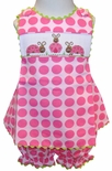 Banana Split Smocked Ladybugs Criss Cross Bloomers Set