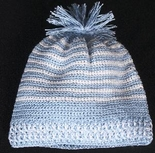 Boy's Knit Blue And White Cap Hat.