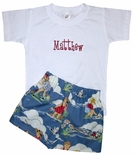 Boy's Beach Shorts Custom in Waterplay Day at the Beach Toile