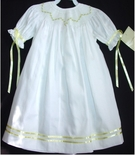 Girl's Smocked Heirloom Dress with Yellow Rosebuds, Ribbon