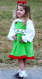 Custom Christmas Elves Girl's Dress in Green Gingham or Corduroy