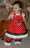 Custom Girl's Christmas Monogrammed Wreath Dress or Outfit