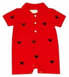 Cukees Embroidered Mickey Mouse Boy's Romper John John