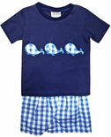 Delaney Appliqued Whales Shorts Set