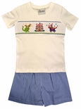 Delaney Smocked Knight in Shining Armour and Dragon Shorts Set