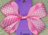 Dot Hair Bows for Babies and Toddlers in Small or Medium