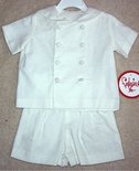 Boy's Double Breasted Eton Suit in White By Funtasia