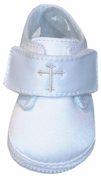 Christening Shoes For Babies with Embroidered Cross