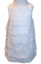 Eyelet Heirloom Layered Ruffle Dress Perfect for Beach Portraits and Special Occasions