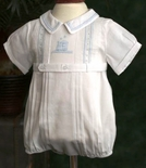 Feltman Brothers Baby Boy's Belt Bubble Romper.
