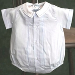 Feltman Brothers Baby Boy's Blue Pleated Romper Bubble.
