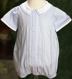 Feltman Brothers Baby Boy's Blue Collar Romper Bubble.