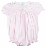 Feltman Brothers Bubble for Baby Girls Embroidered Pink
