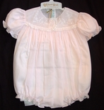 Feltman Brothers Baby Girl's Embroidered Pink Bubble.