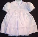 Feltman Brothers Baby Girl's Pink Dress With Rosebuds & Pintucks.