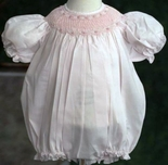 Feltman Brothers Baby Girl's Smocked Pink Bubble.