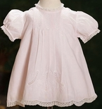 Feltman Brothers Baby Girl's Dress with Scallop Edges & Pintucks