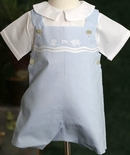 Feltman Brothers Baby Shadow Embroidered Romper Bubble.