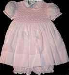Feltman Brothers Smocked Dress in Pink With Bloomers.