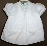 Feltman Brothers Baby Girl's White Dress With Embroidery & Pintucks.