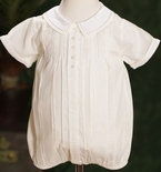 Feltman Brothers Boy's White And Yellow Romper Bubble.