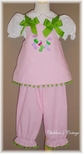 Custom Girl's Christmas Outfit with Stockings In Pink, Lavender & Lime