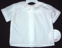 Boy's White Blouse with Peter Pan Collar By Funtasia.