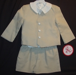 Boy's Khaki Suit with Button Down Coat and Shorts Suit By Funtasia.