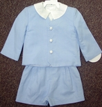 Boy's Blue Eton Suit with Button Down Top & Shorts Funtasia.