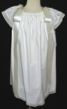 Girl's Heirloom Angel Wing Dress in White and Ecru with Lace and Shoulder Ribbons