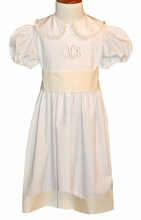 """PRE-ORDER FOR EASTER<br>Pure Elegance Girl's Heirloom """"Betsy"""" Dress with Accent Hem, Tie Back Fabric Sash and Lace"""